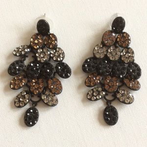 """Sequined tiered earrings 1 1/2"""" x 2 1/2"""""""